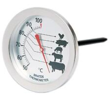 Meat Oven Roasting Thermometer Stainless Steel Non Stick Probe Quality New