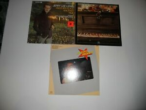 Jerry-Lee-Lewis-Country-Memories-Keeps-Rockin-3-LP-Lot-VG-ANALOG-Cleaned