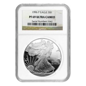 1996-P-1-oz-Silver-American-Eagle-1-Coin-NGC-PF-69-UCAM