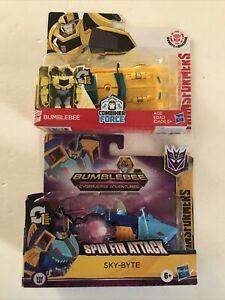 2020 Hasbro Transformer Toys Lot of (2) BUMBLE BEE & SKY-BYTE