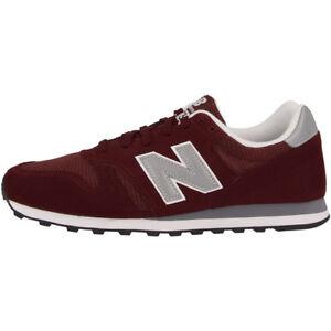 New-Balance-Ml-373-BN-Chaussures-Bourgogne-Silver-ml373bn-Sneaker-Rouge-m373-410-574