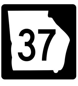 Georgia State Route 37 Sticker R3585 Highway Sign