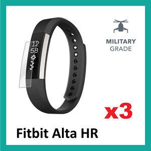 Fitbit-Alta-hr-protecteur-d-039-ecran-haute-qualite-militaire-grade-pack-de-3