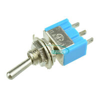 10PCS Mini SPDT MTS-102 3 Pin 2 Position On-on Toggle Switches Practic 6A 125VAC