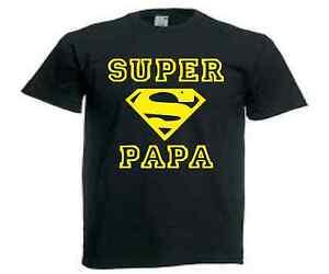 166629017e22b T-SHIRT SUPER PAPA Parodie Superman - humour fun taille de S a XXL ...