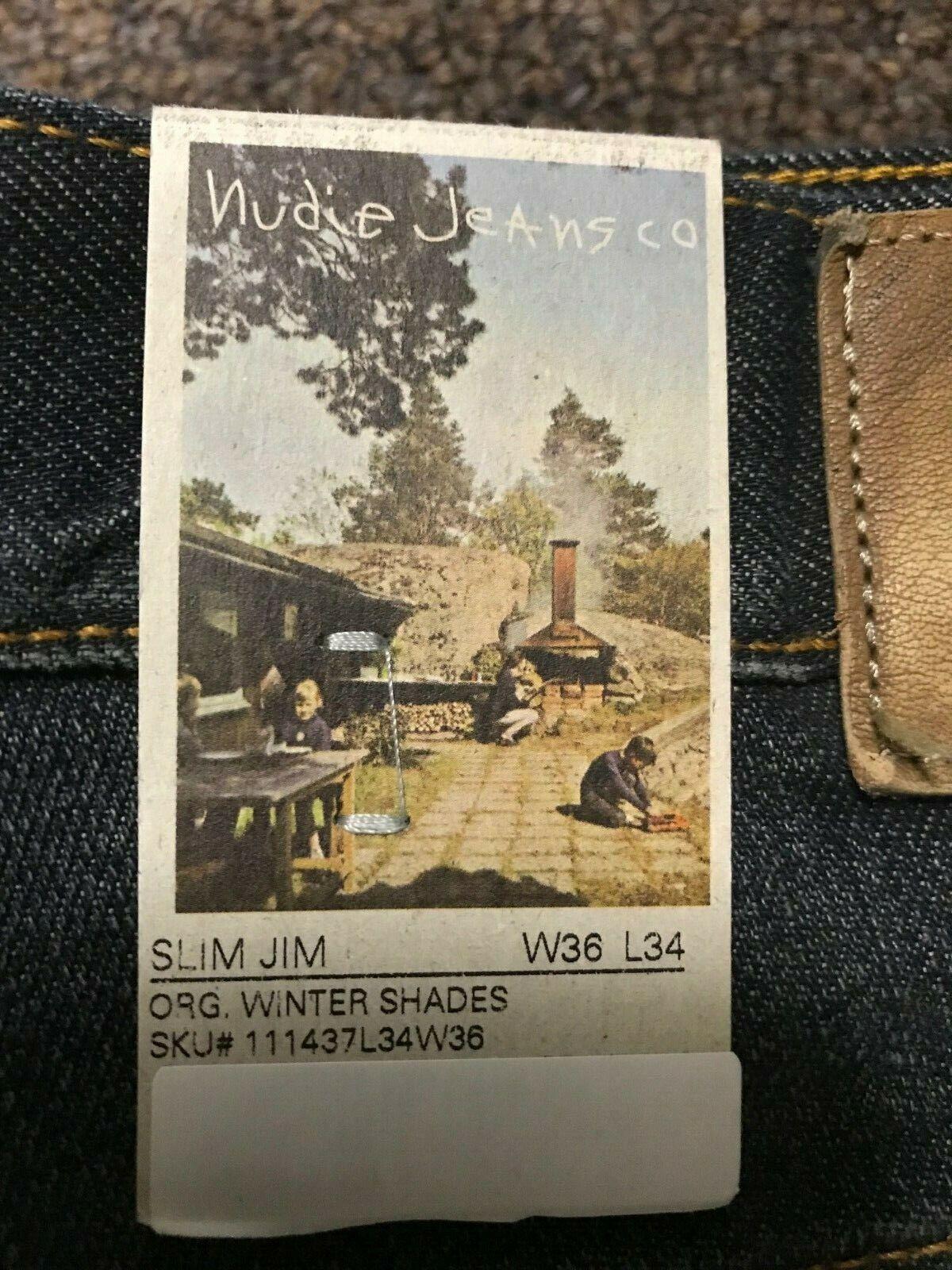 NUDIE JEANS SLIM JIM  WINTER SHADES BRAND NEW RETAIL