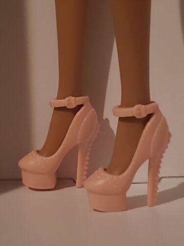 Barbie SHOES PEACH ANKLE STRAP PLATFORM PUMPS