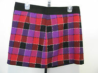 Milly Of York Plaid Style Wool Blend Skirt Size 8,nwt