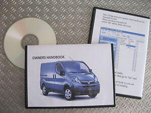 vauxhall vivaro owners manual handbook cd 2001 2014 rh ebay co uk opel vivaro 2008 service manual opel vivaro repair manual pdf