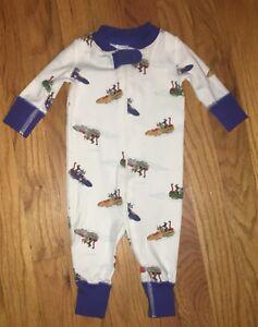 42cc66afc735 Baby Boys Hanna Andersson Bobsled Animals Sleeper Romper Pajamas 50 ...