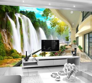 3D Waterfall 4122 Wallpaper Murals Wall Print Wallpaper Mural AJ WALL AU Carly
