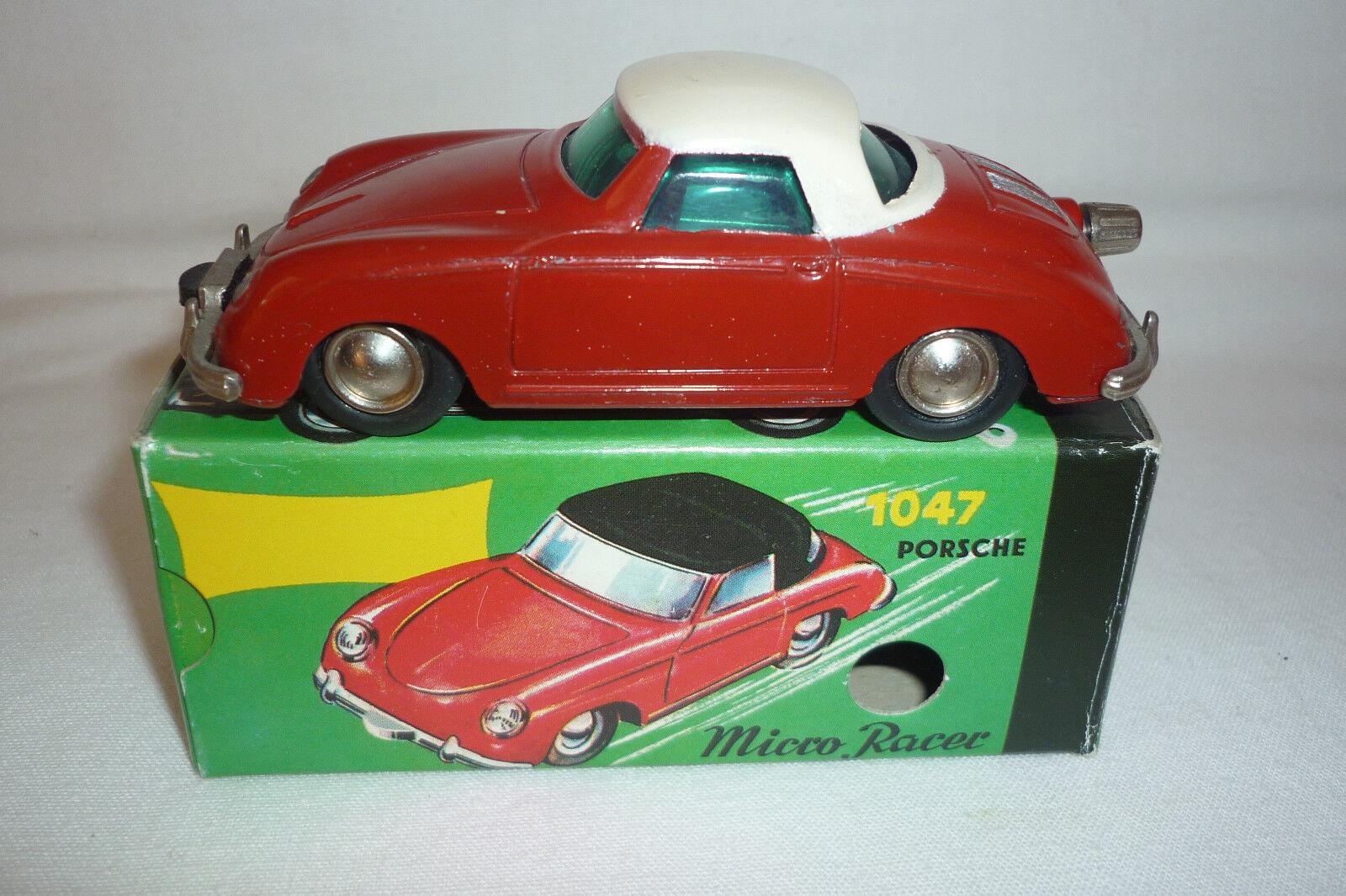 TinJuguete Micro Racer-1047 Porsche 356 - Embalaje Original - (1. Schuco 36)