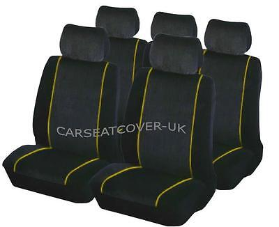 Nissan Juke Luxury YELLOW//BLACK Leather Look Car Seat Covers Full Set