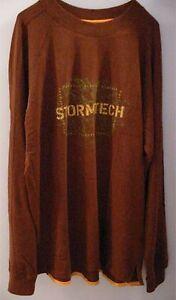 Men's XL Stormtech Marine Heritage Brown Long Sleeve Tee Shirt Compass