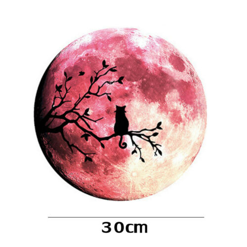 Wandtattoo Wanddeko Aufkleber Mond Vollmond Dekoration Floureszierend Leuchtend