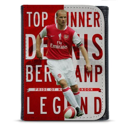 Bergkamp Arsenal PU Pelle Portafoglio Calcio Legend Da Uomo Dad Lui Regalo LG21
