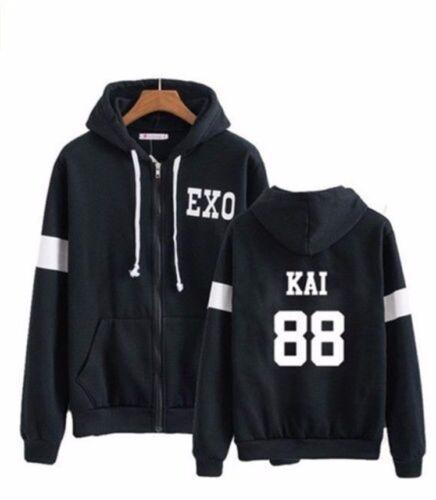 Angelsport Bekleidung Kpop EXO Kapuzenpullover Sweatershirt Mantel abtragen Jacke EX'ACT Coat Hoodie
