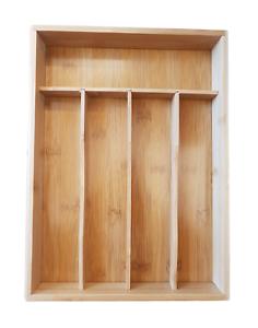 Besteckkasten Bambus Holz Besteckeinsatz Besteck Schubladeneinsatz