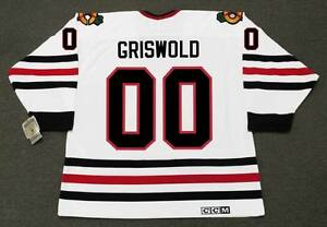 Image is loading CLARK-GRISWOLD -Christmas-Vacation-Chicago-Blackhawks-CCM-Vintage- 8bb9d2ec22b