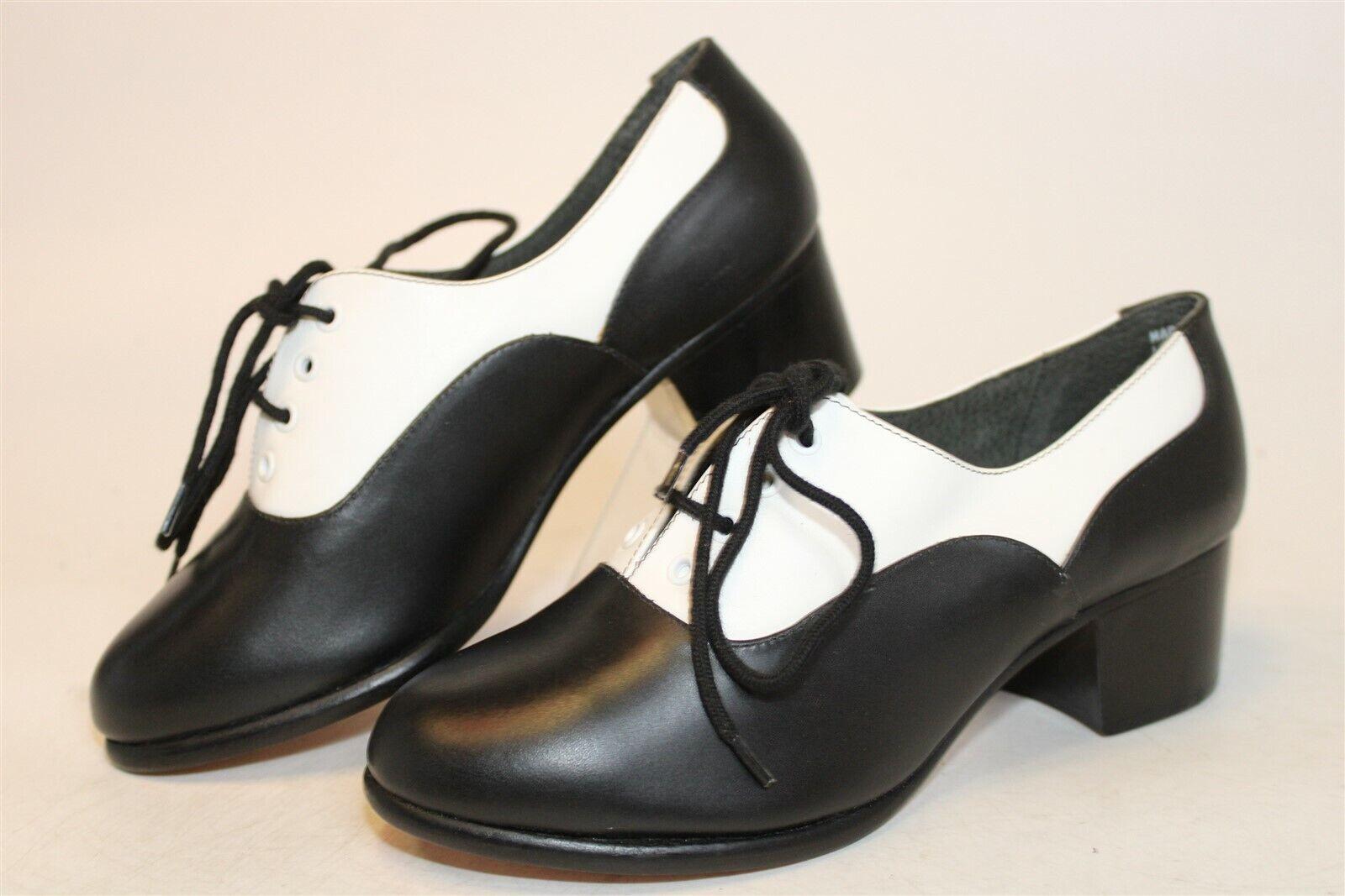 Capezio NEW Womens 5.5 M Leather Lace Up Oxfords Jazz Dance Shoes
