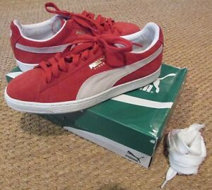 5b32346426b PUMA Suede Classic Red White Sneakers Mens Size 10.5 in Orig Box EUC ...