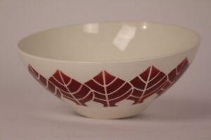 Bowl-Digoin-Sarreguemines-Bowl-Ceramics-Leaves-Spruhdekor-20er-30er-Years