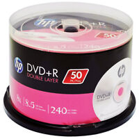 100 Hp 8x Logo 8.5gb Double Dual Layer Dvd+r Dl [free Priority Mail]