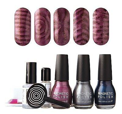 Magnetic Magic Nail Polish Set by Rio sale now on 9.99 free postage