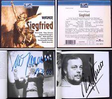 Marek JANOWSKI, SALMINEN Signiert WAGNER: SIEGFRIED 4CD Rene Kollo Schreier Adam