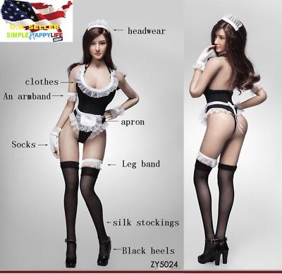 1:6 Scale Female Black Stocking Socks for 12/'/' Hot Stuff Action Figure Accs