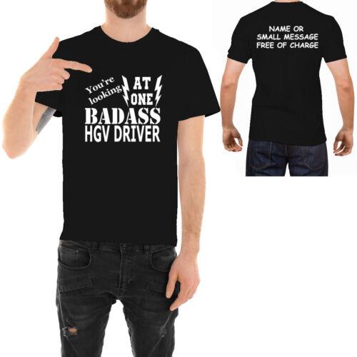 Badass Hgv Driver T-Shirt Drôle Idéal Père jour anniversaire cadeau pour lui