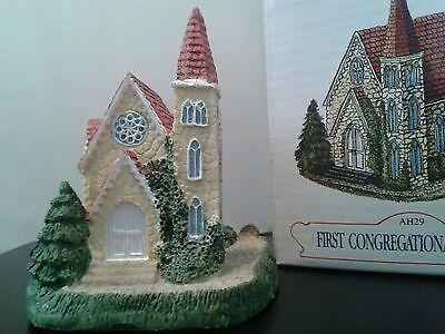 Liberty Falls FIRST CONGREGATIONAL CHURCH #AH29 Americana collection 1992