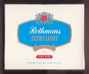EMPTY PACKET 25 Rothmans Extra Light Canada - <span itemprop=availableAtOrFrom>Elgin, Moray, United Kingdom</span> - EMPTY PACKET 25 Rothmans Extra Light Canada - Elgin, Moray, United Kingdom