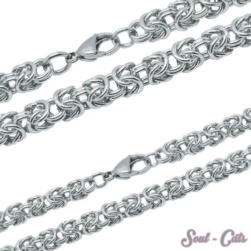 El rey cadena de acero inoxidable cadena pulsera individualmente o en el set unisex