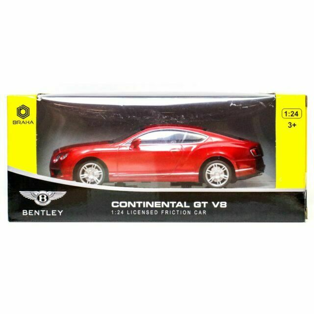 BRAHA Bentley Continental GT V8 1:24 SCALE Red Black or White New