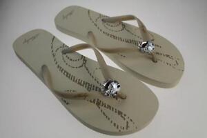 Yew Ladies Beige Flip Flops Sizes 4 5 6 7 8 Henleys FcffKr