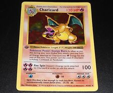 Charizard 4/102 Base Set Shadowless 1st Edition HOLO Rare Pokemon Card PLAYED