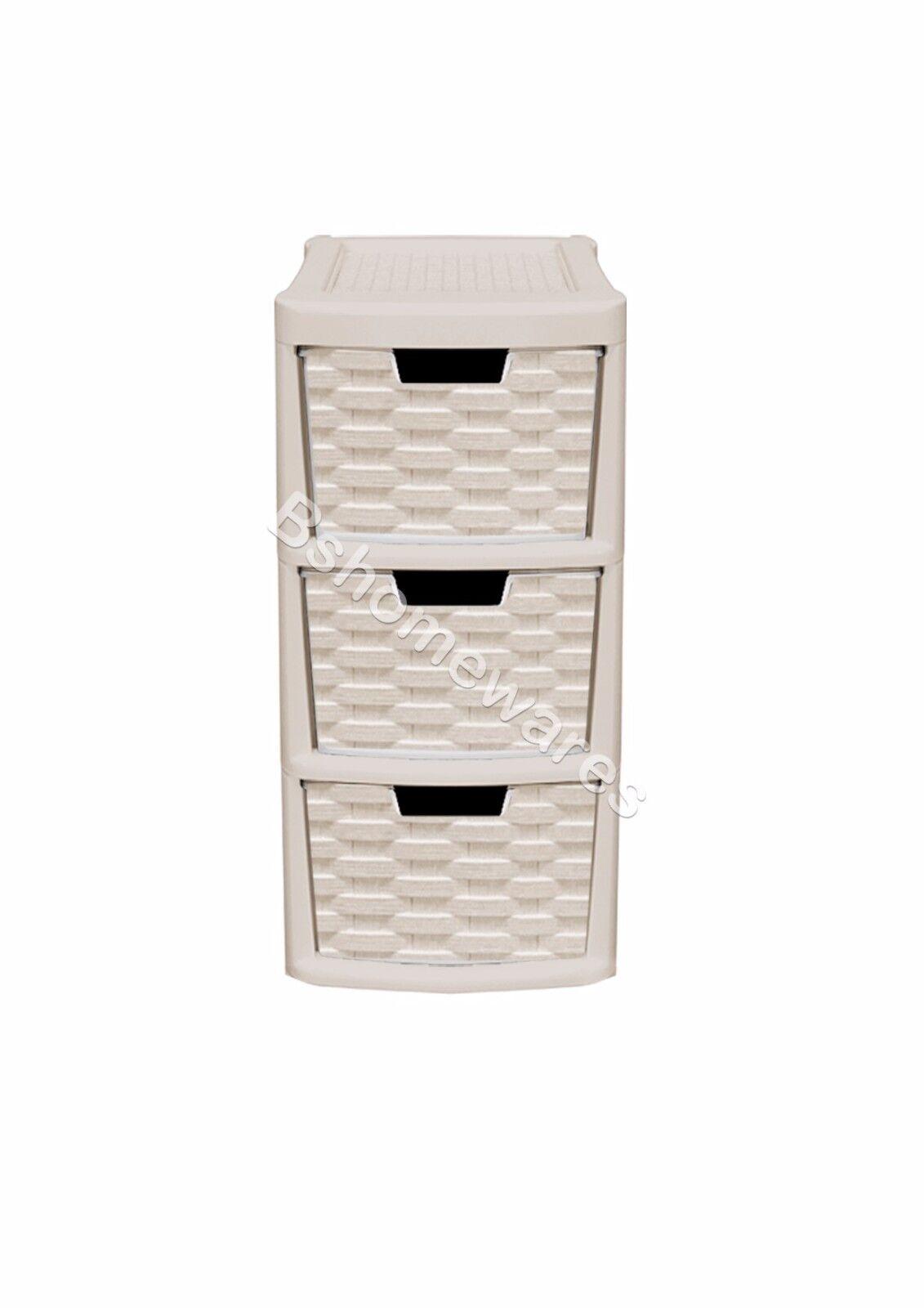 Plastic Rattan Drawer Storage Unit Cabinet Small Amp Medium