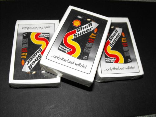 SEALED PACK OF PLAYING CARDS SHELL OIL VINTAGE ADVERTISING CARD GAMES