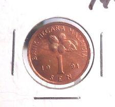 CIRCULATED 1991 1 SEN MALAYSIAN  COIN !!!!