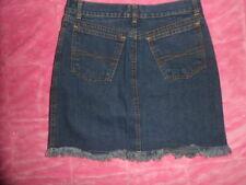 "OOPS FRANK Jeans Vintage Product Dark Blue SKIRT sz 26"" waist 16"" long RAW EDGE"
