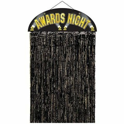 Awards Night Foil Door Curtain - 1.4 m - Hollywood & Award Party Decoration