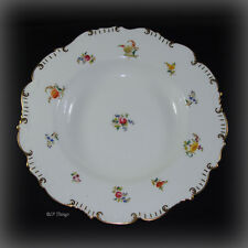 1890s Brown Westhead Moore & Company Pink Rose & Floral Large Porcelain Bowl H 4