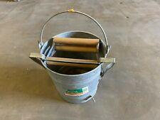 Emsco Group Three Roller Type Mop Bucket Galvanized Wringer Pail 20 Quart