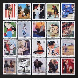 US 2001 #3502 American Illustrators Complete set, 20 stamps in Singles Mint NH
