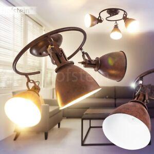 Vintage Decken Leuchte braun verstellbar Wohn Zimmer Küchen Strahler Lampen