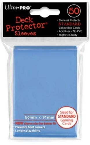 10x PACKS Magic, Pokemon, Standard UltraPro LIGHT BLUE Card Sleeves 50ct NEW!