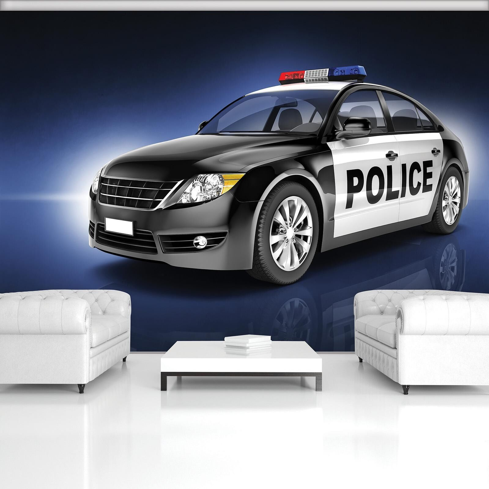 Photo Wallpaper Mural Non-woven 20245_VEN Police Car Cars Police Inscription Sig