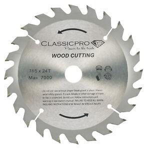 Classicpro 165mm x 24t tct circular saw blade dewalt makita ryobi image is loading classicpro 165mm x 24t tct circular saw blade greentooth Image collections