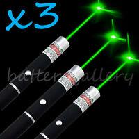 3PCS Green Light Beam Powerful 5MW Laser Pointer Pen